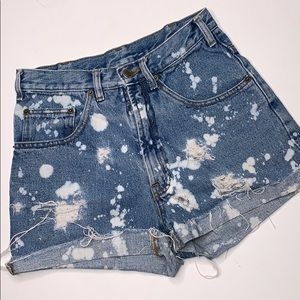 Saugatuck Dry Goods Hi-Rise Destroyed Jean Shorts